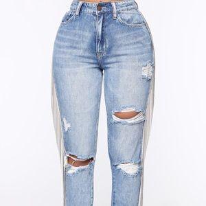 Fashion nova chained jeans
